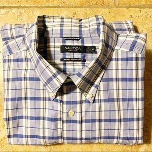 Nautica Men's Plaid Wrinkle Resistant Shirt Sz XXL